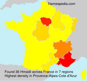Familiennamen Hmaidi - France