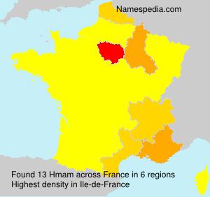 Surname Hmam in France
