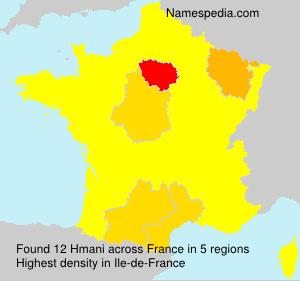 Familiennamen Hmani - France