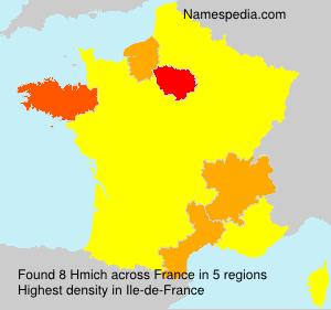 Familiennamen Hmich - France