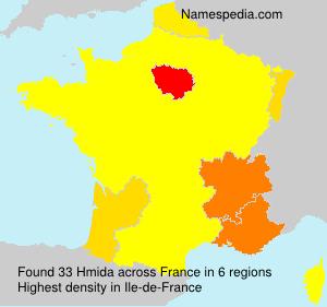 Familiennamen Hmida - France