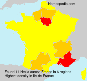 Familiennamen Hmila - France
