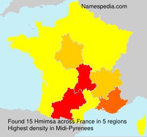 Familiennamen Hmimsa - France