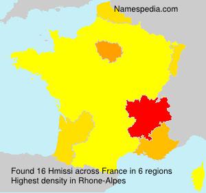 Familiennamen Hmissi - France