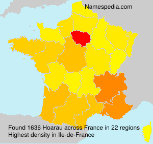 Surname Hoarau in France