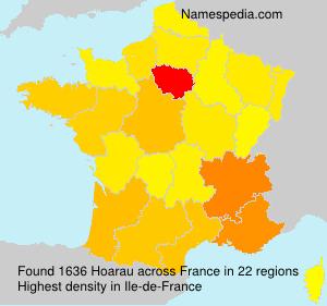 Surname Hoarau in France