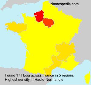 Familiennamen Hoba - France