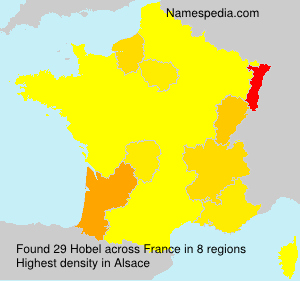 Surname Hobel in France