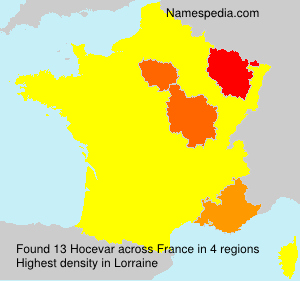 Surname Hocevar in France