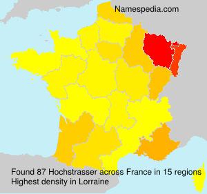 Familiennamen Hochstrasser - France