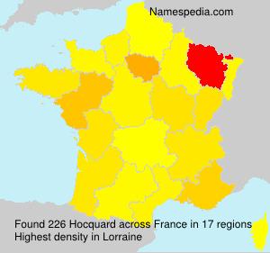 Surname Hocquard in France