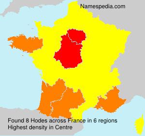 Surname Hodes in France