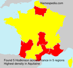 Surname Hodkinson in France