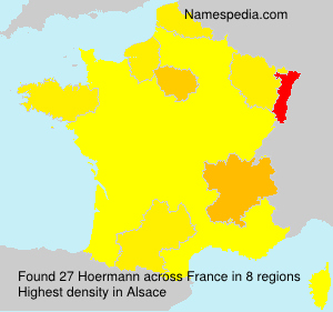 Surname Hoermann in France