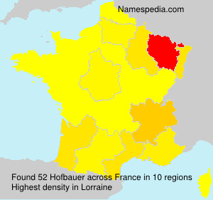Surname Hofbauer in France