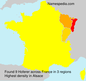 Surname Hoferer in France