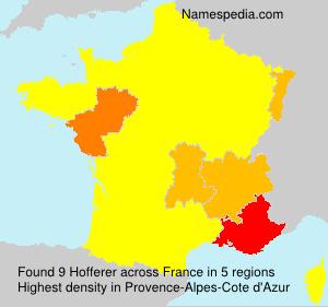 Surname Hofferer in France
