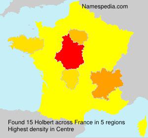 Surname Holbert in France