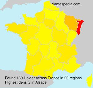 Surname Holder in France
