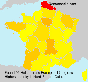 Surname Holle in France
