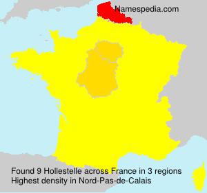 Familiennamen Hollestelle - France