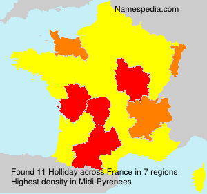 Surname Holliday in France