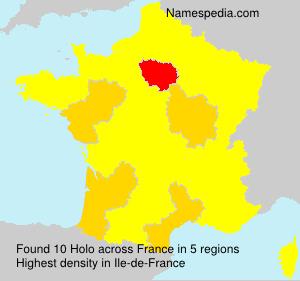 Familiennamen Holo - France