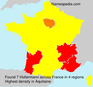 Surname Holtermann in France