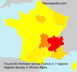 Familiennamen Homeyer - France
