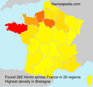 Surname Homo in France