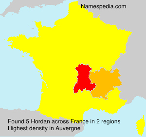 Surname Hordan in France