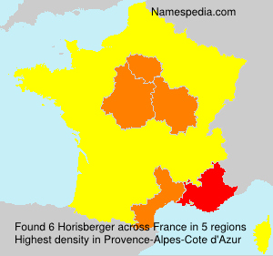 Familiennamen Horisberger - France