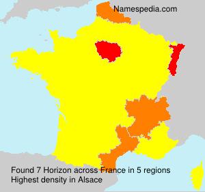 Surname Horizon in France