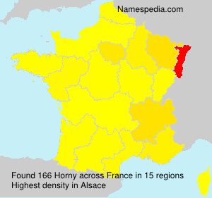 Surname Horny in France