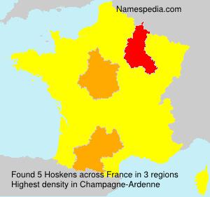 Familiennamen Hoskens - France