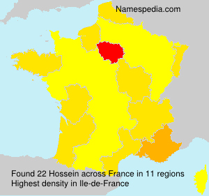 Surname Hossein in France