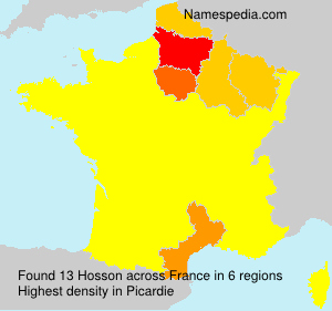 Surname Hosson in France