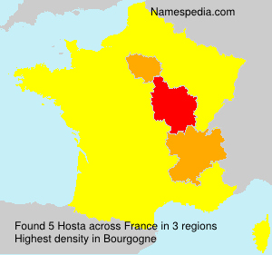 Surname Hosta in France