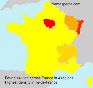 Surname Hott in France
