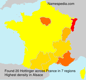 Familiennamen Hottinger - France