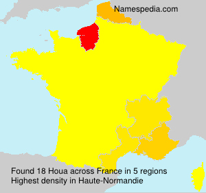 Surname Houa in France