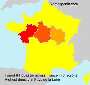 Surname Houassin in France
