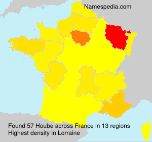 Familiennamen Hoube - France