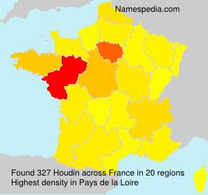Familiennamen Houdin - France