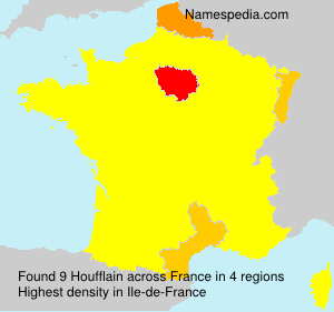 Surname Houfflain in France