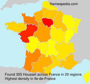 Surname Housset in France