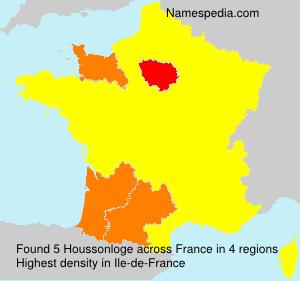 Surname Houssonloge in France