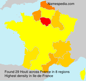 Surname Houti in France