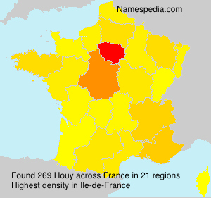 Surname Houy in France