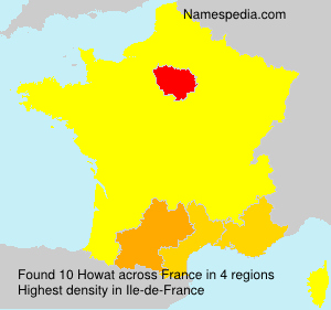Surname Howat in France